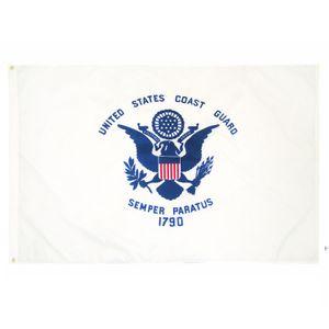 Fabrikpreis-Handing 3 von 5 ft Polyester Vereinigte Staaten von Amerikanischen Militär USCG Küste Guard Flag BWD5793