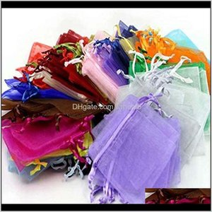 Wrap Event Festive Supplies Home & Garden100Pcs More 7X9Cm Satin Dstring Organza Bag Wedding Party Gift Jewelry Watch Bag#45 Drop Delivery 20