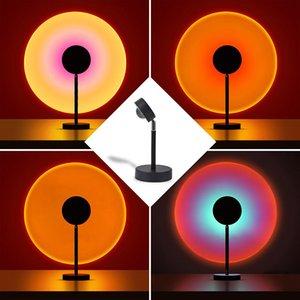 LED Sunset Lamba Gökkuşağı Projeksiyon Aydınlatma Flaş Başları