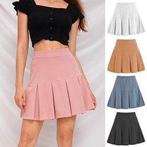 Skirts Women's Basic Versatile Stretchy Flared Casual Mini Skater Skirt Black Pink A-line Girl