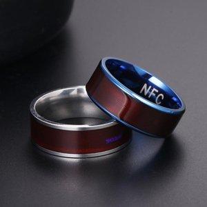 Smart NFC Anelli intelligenti multifunzione Uomo per Android / Attrezzatura per iPhone Dito Digital Ring Regalo Diame US Dimensione 6-13