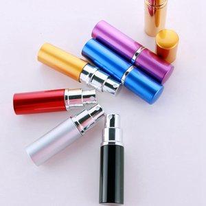 10ml Parfüm Flasche Partei Gunst Aluminium eloxiert Kompaktzerstäuber 7 Farben Reisen Nachfüllbarer Duft Makeup Spray Flaschen CYZ3007