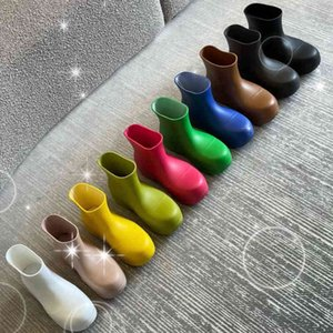Fashion The latest Ankle boots women Designer Round Toes shoes Outdoor Booties womens shoe Thick bottomed Water lady proof Top Qu