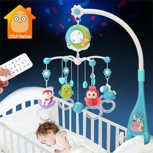 Baby Mobile chocalhos brinquedos 0-12 meses para bebê recém-nascido berço cama Bell criança chocalhos carrossel para berços crianças brinquedo musical presente 210320