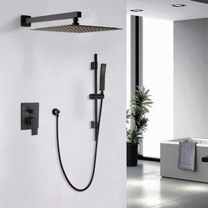 12-дюймовые системы для душа Настенная ванная комната роскошный дождь смеситель головной систему осадков