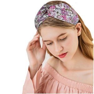 Women Printing Hair Band Bohemian print knit headbands sweat absorbing yoga headband fashion style Wide-brimmed turban IIA963