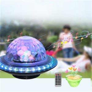 Новейший беспроводной стереосистемный Bluetooth-динамик дискотека Bluetooth USB RGB светодиодный свет FM USB TF MP3 роскошный освещение