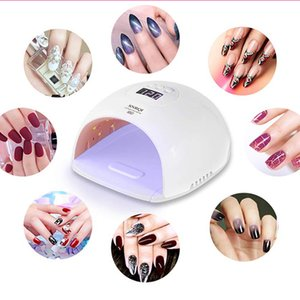 Gel nail lamp 120W LED nail lamp Fast nail dryer Suitable for gel polishing and curing 4 timers Portable handle Large space automatic sensor