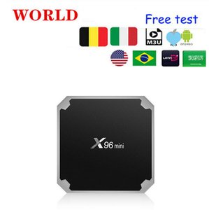 Free Xtream France receiver X96 mini Android 7.1 9.0 Smart TVSet top box 2GB 16GB Amlogic S905W Quad Core support 4K 30tps 2.4GHz WiFi