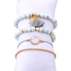 Accessori Bohemian Love Shell Tassel Element Bracelet Set
