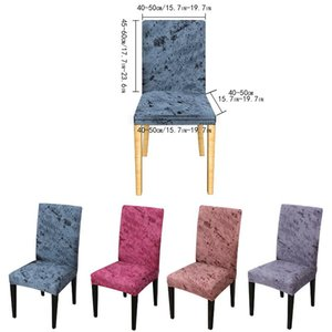 Chair Covers 2 4pc Printed Soft Milk Silk Cover Spandex Stretch Elastic Slipcovers For Dining Room Kitchen Wedding Banquet