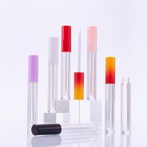 3,5 ml Tubos de brillo de labios vacío Pink negro Esmalte de plástico Lápiz labial Etiqueta privada Embalaje Cosmético Packaging Lipgloss Contenedor Botellas de almacenamiento Tarro