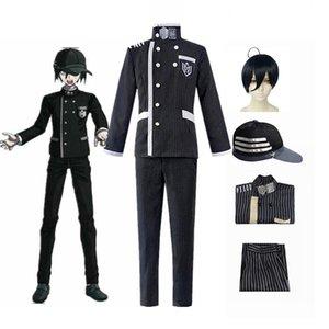 Anime Danganronpa Saihara Shuichi Detective Uniform Hat Cosplay Costume Full Set