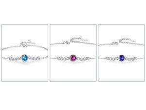 Dropship 925 Heart of the Sea Sterling Silver Brand Jewelry For Women Chain Clover Bracelet Praty Wedding Bracelets BS4745 HIGH