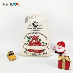 Party Dekoration Weihnachtsgeschenkbeutel Weihnachten Element Pickup Truck Baum Christma Taschen Reiner Baumwolle Strahl Mund Candy Pocket Tiktok DHL Schnell HY26