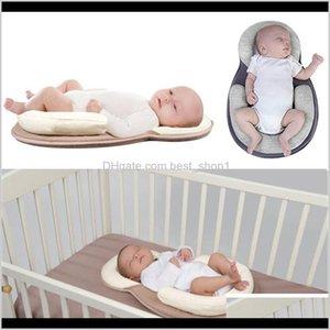 الرضع مولود فراش النوم وسادة لتحديد المواقع منع شكل رئيس شقة المضادة لفة الوسائد قطرة 40zth رانفه