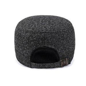 Gölge voron 2021 Avrupa kış yeni erkek pamuk şapka moda erkekler ve kadınlar sonbahar ve kış beyzbol şapkası ayarlanabilir elastik kulak kap