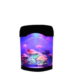 Jellyfish LED Lamp Creative Beautiful Aquarium Night Light Tank Swimming Mood Lights Durable Home Decoration Simulation USALIGHT