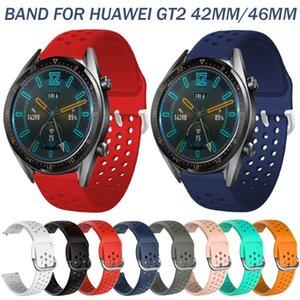 Renkli Spor Silikon Band Için Huawei İzle GT2 42mm 46mm Watchband Yedek Bilezik Aksesuarları 20mm 22mm Bantlar