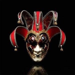 Adolescenti stampati Pattern Pagliaccio IS Uomo Fashion Festival Decorazione Trendy Mask Halloween Personalità Fascino Maschio Party M