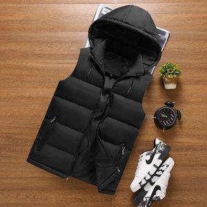 YMWMHU - Giacca lunga senza maniche da uomo moda uomo, felpa con cappuccio, abbigliamento stradale, autunno gilet allentato, 6xl
