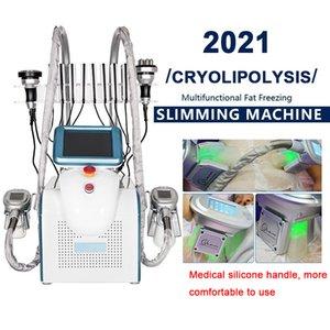 2022 6in1 Cryolipolyse FAT Congélation Cryothérapie Cavitation corporelle Lipo Dispositif laser avec poignée RF