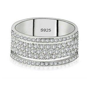 Choucong Victoria Wieck Luxury Jewelry 925 Sterling Silver Star Pave White Sapphire CZ Diamond Eternity Women Wedding Bridal Rin 182 O2