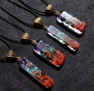 ORGONE Energy Orgo Energía Colgante Spirit Arcade Crystal Semi Gem Pied Meditación Siete Chakra Colgante Partido Artesanía Favor AHC6860