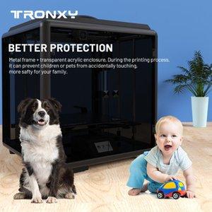 Printers Tronxy Corexy Structure Guard Plus D01 330*330*400mm Integrated Enclosure Auto Level Sensor High Precision 3D Printer