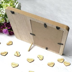 Picture en bois Cadre Tableau Blackboard Suspending Photo Décoration de mariage DHE5316