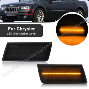 Emergency Lights For 300C 2005 2006 2007 2008 2009 2010 Lamps LED Front Side Marker Amber Clear 1Pair