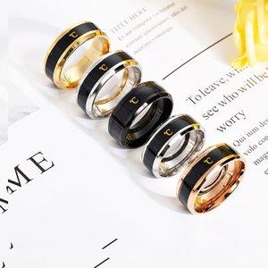 Nuovo anello di coppia sensibile alla temperatura di moda intelligente