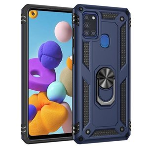 Cell Phone Pouches Kickstand Case For Samsung Galaxy A40S A31 A10E A41 A01 Core Shockproof Ring Holder Silicone Full Protection