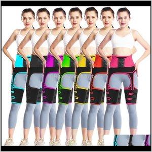 3 In 1 And Thigh Trimmer Double Compression Belt Leg Support Sweat Sauna Effect Neoprene Trainer Butt Lifter Workout Kbbtz Tummy Shape 0Wk9X