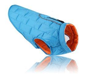 اللوازم الخريف واثنين من الألوان تحقق الملابس الكلب القطن مبطن الشتاء سترة المنتجات الحيوانات الأليفة