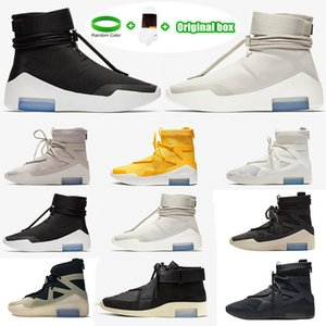[Kutu ile] Amarillo FOG Fear of God X 1 SA 180 Raid Boots Light Bone Luxury Designers Running Shoes Sail Sail Outdoor Sports Shoes 36-46