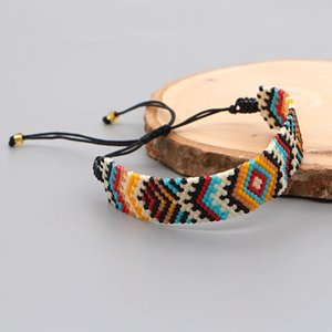 Go2Boho Evil Eye Armband Miyuki Armbänder Für Frauen Ethnische Schmuckgeschenk Handgemachte gewebte Samen Baed Schmuck Pulseras Femme 210323
