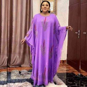 Платья длинные макси 2021 для женщин Дашики Летние плюс Размер платья Женская традиционная африканская одежда Fairy Dreesskwlf Vy7i