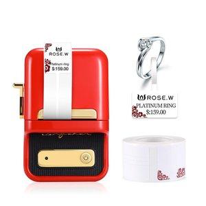 Niimbot B21 Беспроводной Bluetooth Термический Этикетки Принтер Printer Портативный Портативный Штрих-код Цена Теги Наклейки Стикер Машина Принтеры