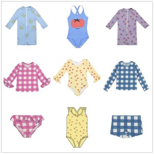 Children Swimwear Summer Bobo 2021 BC Boys Girls Kids Straps Cute Printed One-piece Swimsuit For 1-10Y One-Pieces