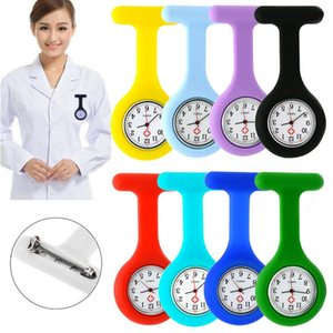 Nurse Pocket Watch Clocks Silicone Clip Brooch Key Chain Fashion Coat Doctor Quartz Watches GWA8779