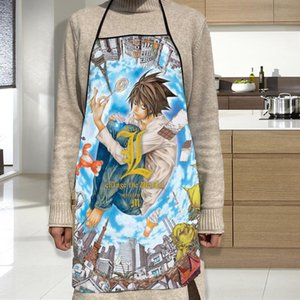 Aprons Death Note Apron Oxford Cloth Waterproof Men Women Kitchen Household Cleaning For Home And Accessories