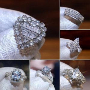 Wedding Rings CAOSHI Exquisite Design Engagement Women Full Shiny Zirconia Delicate Trendy Female Bands Aesthetic Jewelry Gift