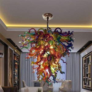 Italian lamp hand blown glass chandelier 90cm wide and 100cm high modern hanging led 110-240v pendant lights chandeliers for bedroom house art decoration