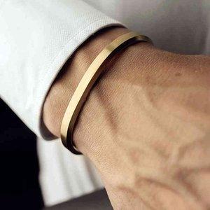 Männer Frauen Armbänder Edelstahl Gold Armreifen Mcllroy Manschette Armbänder Armreif Liebe Wikinger Unisex Pulseras Luxus Modeschmuck Armreifen