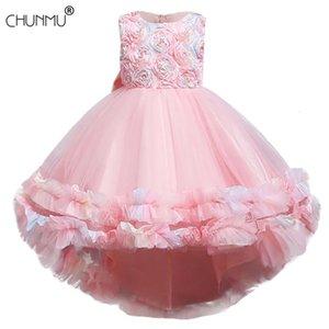 여름 아이들 생일 공주 파티 드레스 여자 레이스 Tutu 어린이 들러리 아기 소녀 옷 C0223