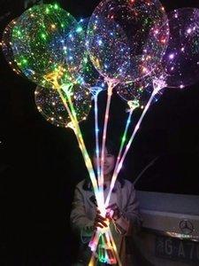 100 шт. LED Light Light Bobo Balloon Gary Decoration с 31,5 дюймовым палочкой 3 м Строка рождества Хэллоуин Декор Декор воздушных шаров
