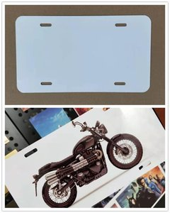 DIY Sublimation License Plate Blanks Metal Aluminium Automotive License Plate Tag Heat Thermal Transfer Sheet for Custom Design Work