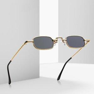 빈티지 성격 steampunk 고딕 양식의 작은 선글라스 여성을위한 고품질 복고 금속 사각형 프레임 UV400 태양 안경 2021