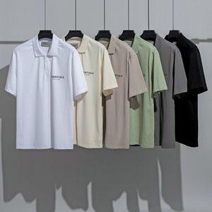2021 Essentials Designers Polo Letters T shirt Summer Europe Paris Polos Fashion Fear Of God Fog tshirts Casual t-shirt Women Mans Tee Black White